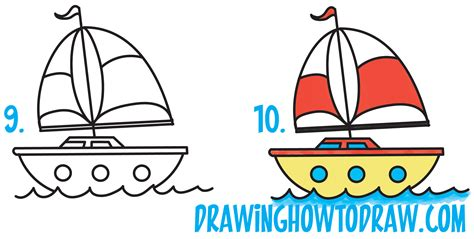 Boat Shape Drawing by How To Draw A Sailboat From The Letter Quot B Quot Shape
