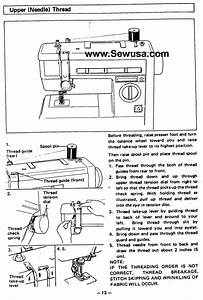 Great Website To Your Machine Manual  Brother Vx 940 950 Sewing Machine Threading Diagram
