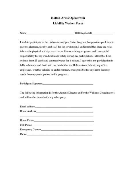 liability insurance liability insurance waiver template