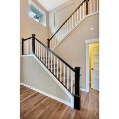 upgraded open stair rail system espresso white