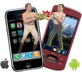 iphone versus android android or iphone wrong question above the crowd by