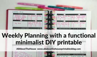 planning   functional minimalist diy weekly planner