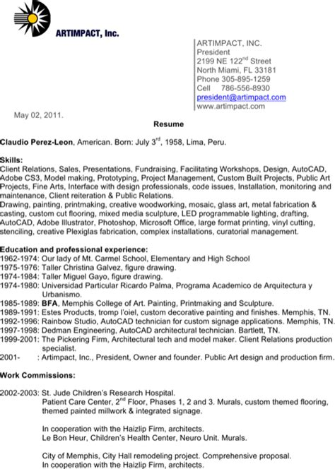 Resume Painter Construction by Painters Resume Templates For Free Formtemplate