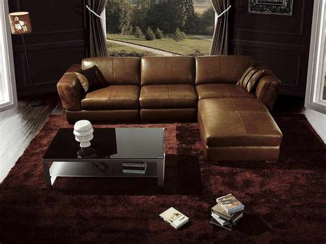 living room ideas leather dark brown couch living room