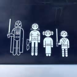 Star Wars Family Car Window Decals