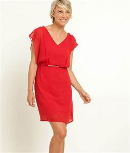 robe femme habillee couleur rouge grain de malice With graine de malice robe