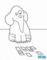 Elephant Coloring Cartas Colorear Playing Elefante Jugando Dibujos Dibujo Hellokids sketch template