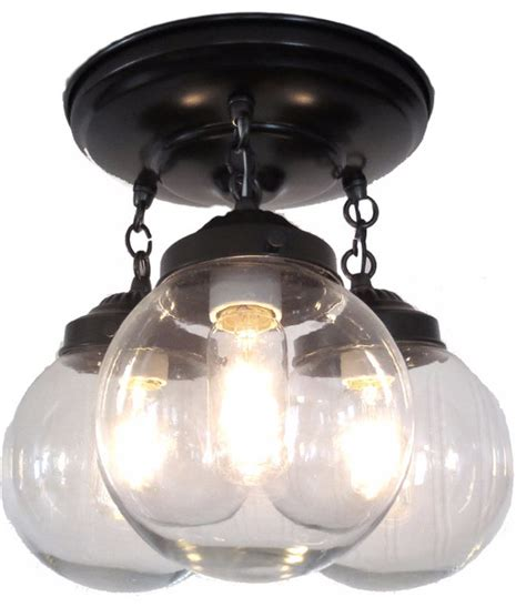 clear globe ceiling light traditional flush mount