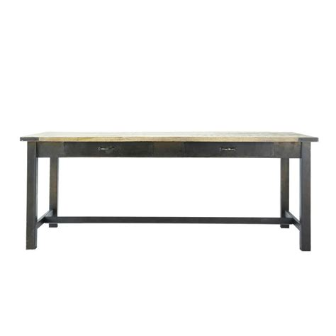 table basse table haute mango wood and metal dining table w 200cm alfred maisons du monde