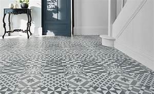 sol vinyle easytrend premium xl carreau ciment bleu gris With porte d entrée pvc avec dalle moquette salle de bain