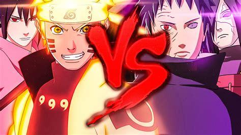 naruto  sasuke  madara  obito duelo de titas youtube