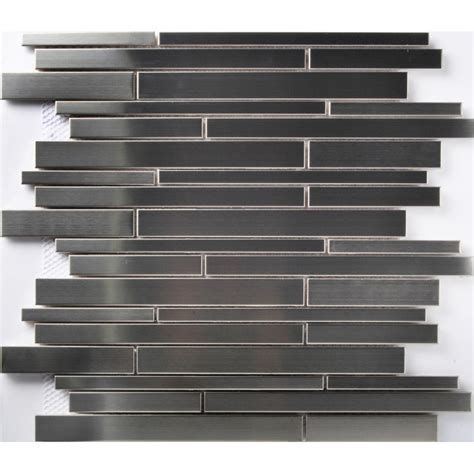 TST Stainless Steel Mosaic Tile Silver Mirror Glass Tiles
