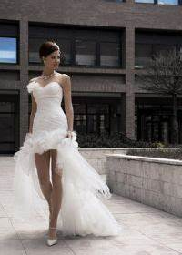 robes long robe and short wedding dresses on pinterest With robe de mariée courte devant longue derrière