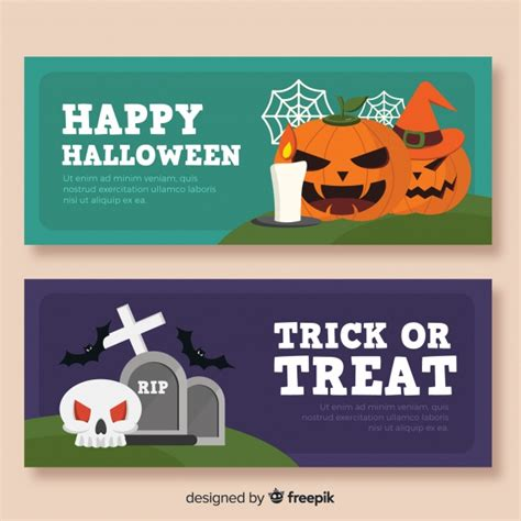 Here you can explore hq halloween banners transparent illustrations, icons and clipart with filter setting like size, type, color etc. Halloween banner templates | Free Vector