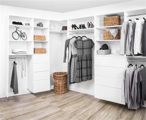 modular closet maker offers quick assembly system