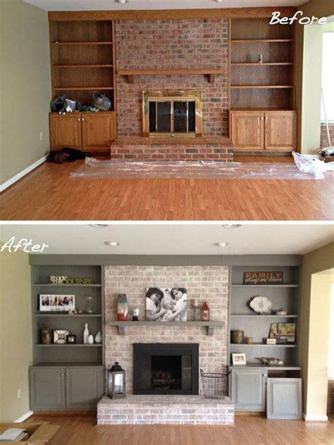 cool brick fireplace makeover ideas modern living room