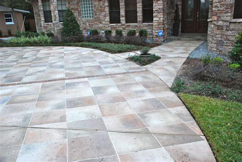 driveway concrete designs concrete designs florida driveway painting