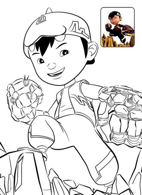 printable boboiboy coloring pages  kids coloring pages