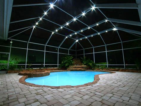 pool enclosure lighting lighting