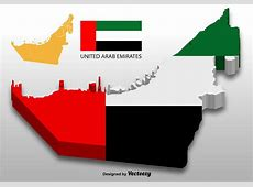United Arab Emirates Vector 3D Map Download Free