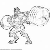 Coloring Weightlifting Beast Getcoloringpages sketch template