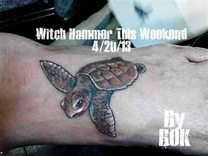 Baby sea turtle tattoo by WitchHammerTattoo on DeviantArt