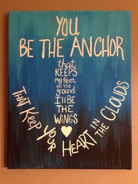 anchor   canvas acrylic