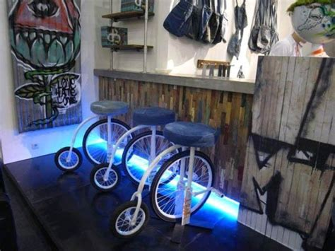 green recycling  bicycles  parts  unique furniture