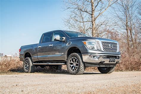 nissan titan xd lifted 2in leveling lift kit for 2016 4wd nissan titan xd pickups
