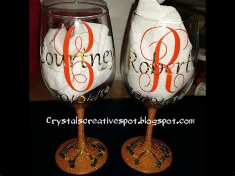 start  finish personalized wine glasses youtube