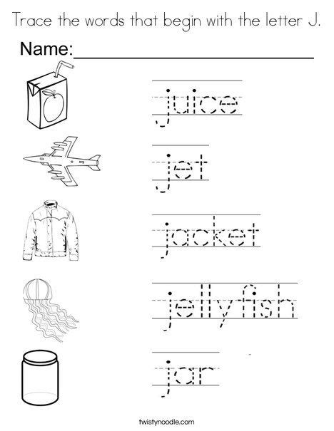 trace the words that begin with the letter j coloring page 440   8ebd1f87106505e78fc791d1460024cb