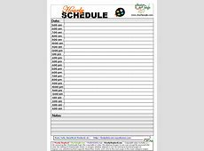 9+ hourly schedule Memo Formats