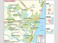 Puducherry Map, Districts in Puducherry formerly
