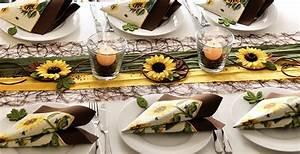 Tischdeko Mit Sonnenblumen : bringt herbstliche stimmung auf den tisch tischdekoration ~ Lizthompson.info Haus und Dekorationen