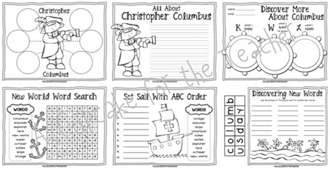 free christopher columbus worksheets worksheets for all