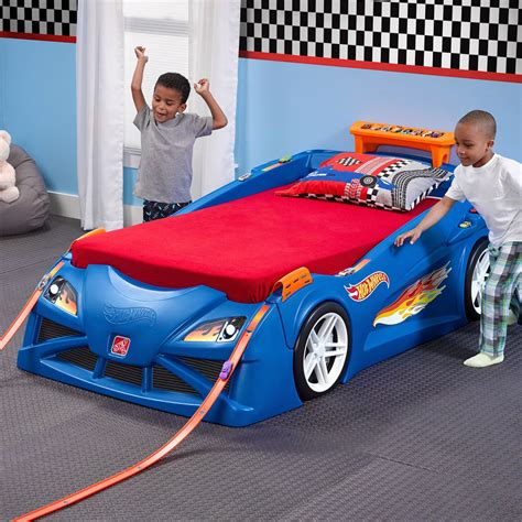 step hot wheels toddler  twin race car bed bjs wholesale club