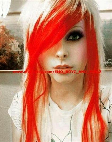 Emo Girl Blond And Orange Hair Emos ♥ Pinterest