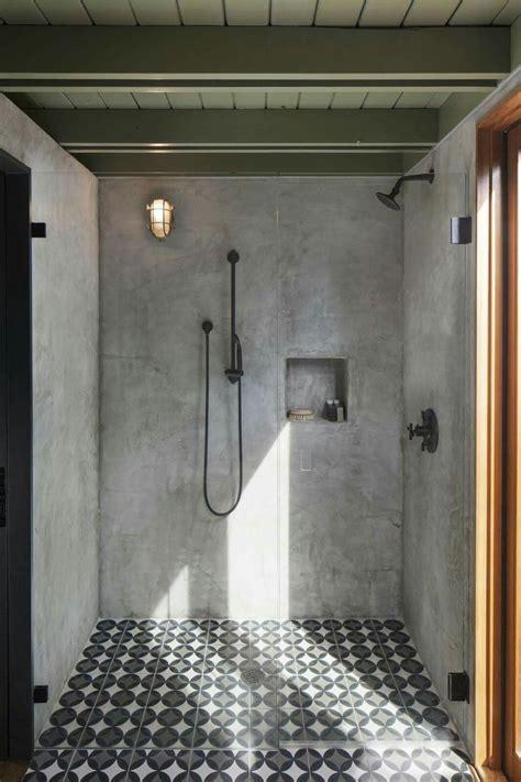 offene dusche mit zementfliesen dusche verschoenern