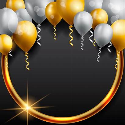 Birthday Background Celebration Balloon Happy Vector Balloons