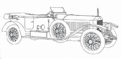 Royce Rolls Coloring Classic Automobile Cars Sketch