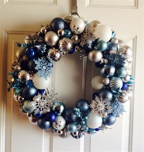 hometalk     frozen inspired ornament wreath