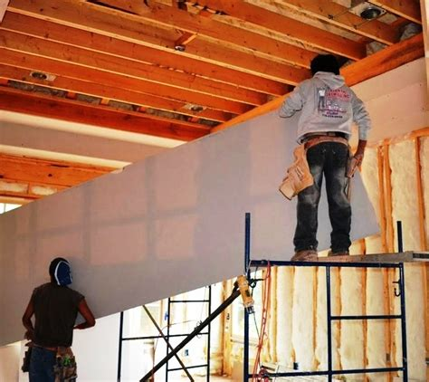Hanging Drywall On Ceiling By Yourself by How To Install A Drywall Ceiling Pro Construction Guide
