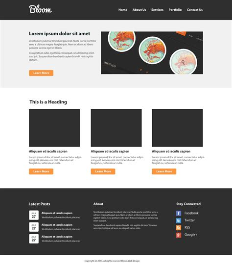 create  clean website layout psd  htmlcss tutorial