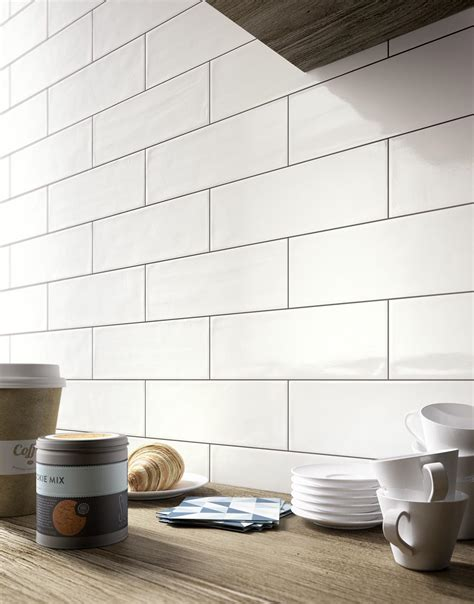 4x12 white glossy subway tile brick glossy collection kitchen and bathroom wall tiles
