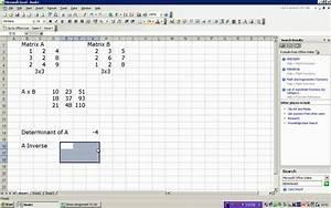 Inverse Matrix 4x4 Berechnen : matrix multiplication and inverse in excel youtube ~ Themetempest.com Abrechnung