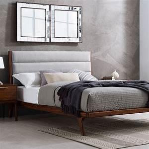 Mercury, Upholstered, Platform, Bed, Cal, King, -, Greenington