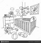 Coloring Room Baby Hand Illustration Vector Drawn Element Drawing Depositphotos Gmail Architectural sketch template