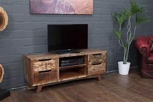 Tv Möbel Vintage : ausgefallenes tv sideboard aus massivholz im vintage stil ~ Sanjose-hotels-ca.com Haus und Dekorationen