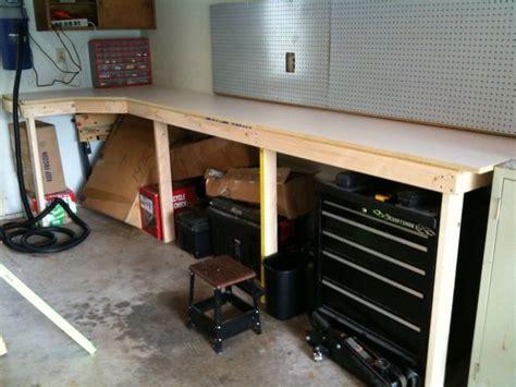 garage work bench cheap and easy garage workbench