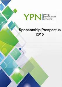 ypn sponsorship prospectus 2015 by the young professionals With sponsorship prospectus template